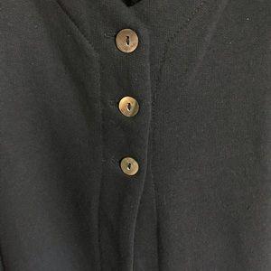 Just Jill Jackets & Coats - Just Jill Black Long Vest Size XXXL Button Front